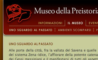 2006 - XHTML and CSS code starting from Prospero Multilab site design for Museo Donini