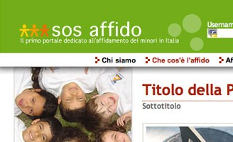 SOS affido project site. Front-end Xhtml and Css pro bono