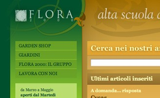Flora 2000 front-end Xhtml, Css, javascript code