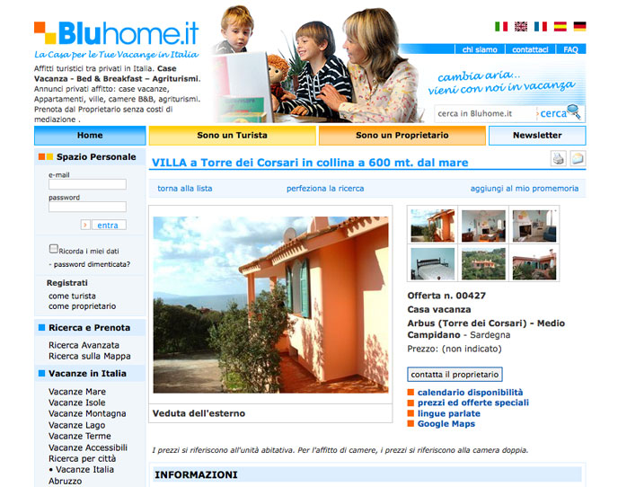 2007 - Bluhome.it core XHTML and CSS for the CMS