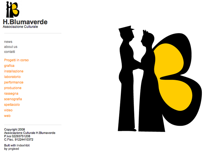 2008 - new design of H.Blumaverde with Indexhibit CMS