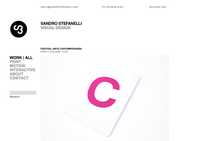 Sandro Stefanelli's online Wordpress powered portfolio.